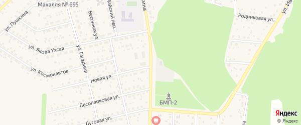 Улица Пушкина на карте села Бижбуляка с номерами домов