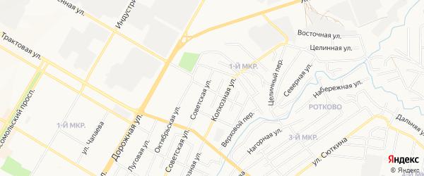 ГСК N 3 Чайка на карте улицы Строителея с номерами домов
