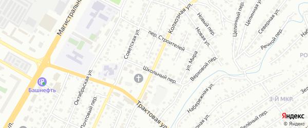 Колхозная улица на карте Нефтекамска с номерами домов