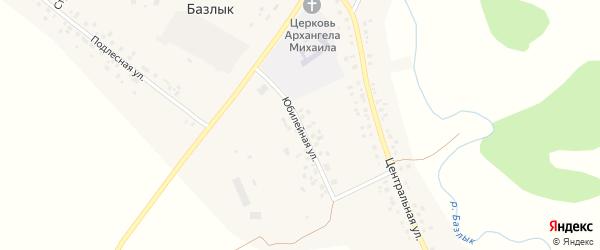 Юбилейная улица на карте села Базлыка с номерами домов