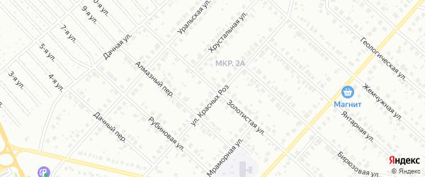 Золотистая улица на карте Нефтекамска с номерами домов