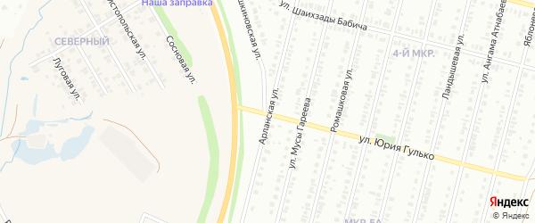 Арланская улица на карте Нефтекамска с номерами домов