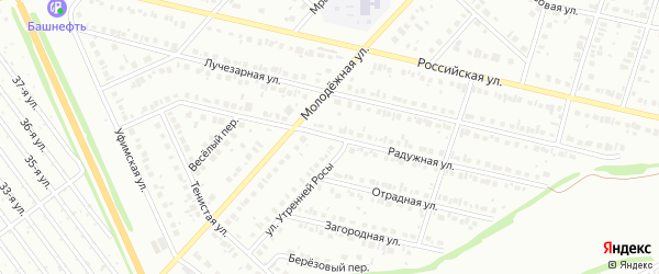 Радужная улица на карте Нефтекамска с номерами домов