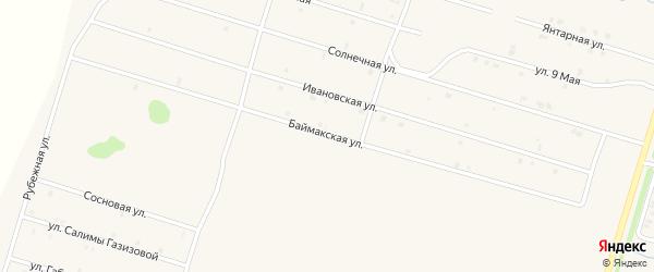 Баймакская улица на карте села Верхнеяркеево с номерами домов