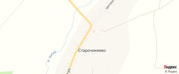 Центральная улица на карте села Старочикеево с номерами домов