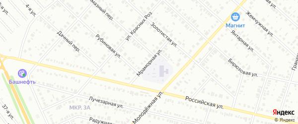 Мраморная улица на карте Нефтекамска с номерами домов