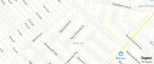 Хрустальная улица на карте Нефтекамска с номерами домов