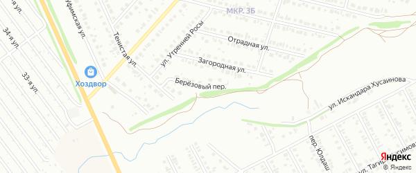 Березовый переулок на карте Нефтекамска с номерами домов