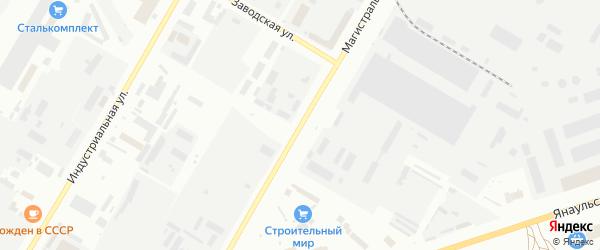 Магистральная улица на карте Нефтекамска с номерами домов