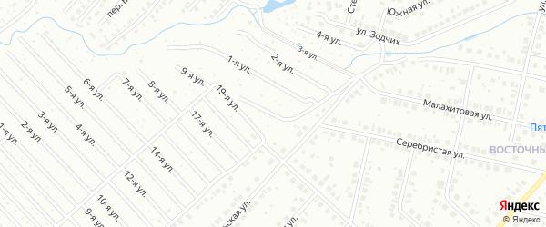 20-я улица на карте СНТ НАТП Южного с номерами домов