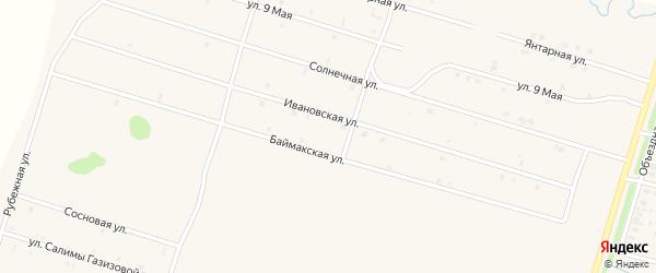 Ивановская улица на карте села Верхнеяркеево с номерами домов