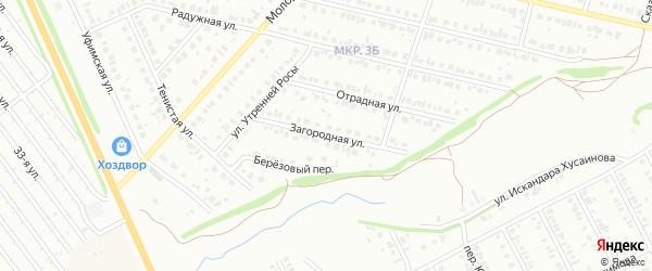 Загородная улица на карте Нефтекамска с номерами домов
