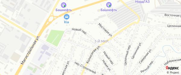 Новый переулок на карте деревни Марино с номерами домов