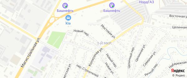Новый переулок на карте Нефтекамска с номерами домов