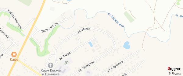 Перспективный переулок на карте села Ташкиново с номерами домов