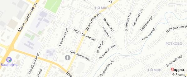 Клубный переулок на карте Нефтекамска с номерами домов