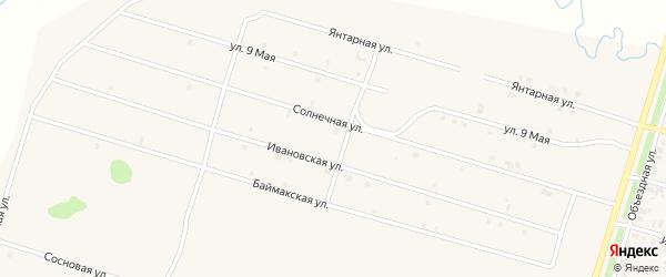 Солнечная улица на карте села Верхнеяркеево с номерами домов