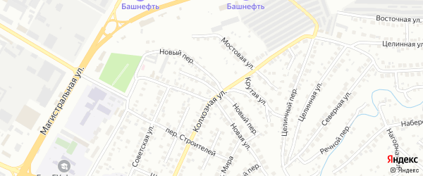Переулок Макаренко на карте Нефтекамска с номерами домов