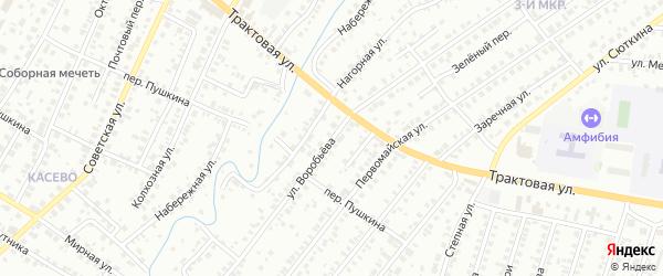 Улица Воробьева на карте Нефтекамска с номерами домов