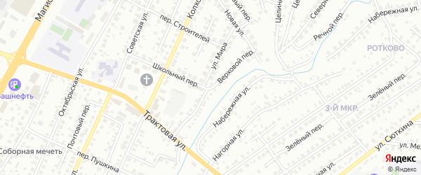 Верховой переулок на карте Нефтекамска с номерами домов