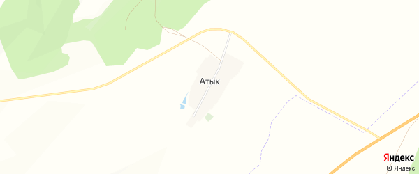 Карта деревни Атыка в Башкортостане с улицами и номерами домов