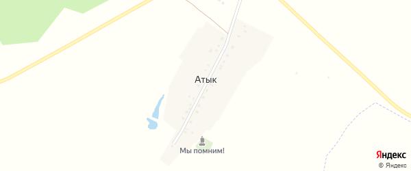 Центральная улица на карте деревни Атыка с номерами домов