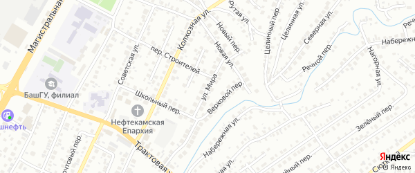 Улица Мира на карте Нефтекамска с номерами домов