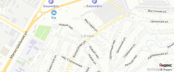1-я улица на карте СНТ Энергетика СУ КГРЭС с номерами домов