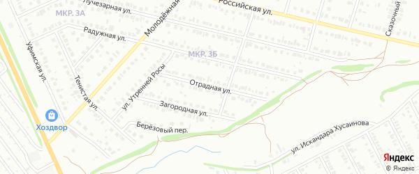 Отрадная улица на карте Нефтекамска с номерами домов