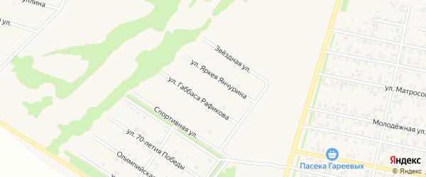 Улица Яркея Янчурина на карте села Верхнеяркеево с номерами домов
