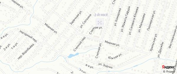 Мирная улица на карте Нефтекамска с номерами домов