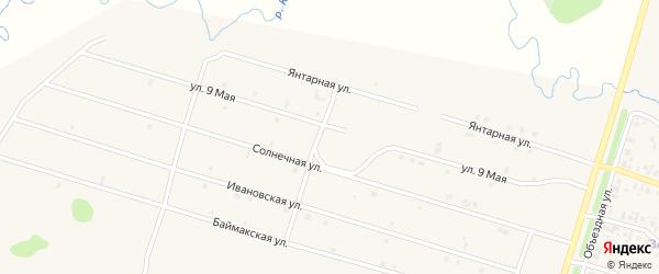 9 Мая улица на карте села Верхнеяркеево с номерами домов