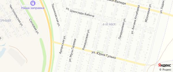 Ромашковая улица на карте Нефтекамска с номерами домов