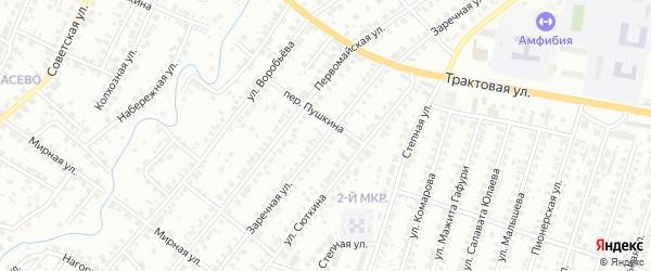 Малая Заречная улица на карте Нефтекамска с номерами домов