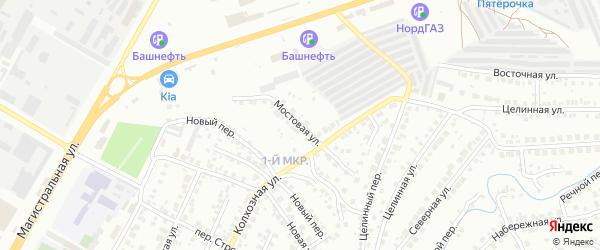 Мостовая улица на карте Нефтекамска с номерами домов