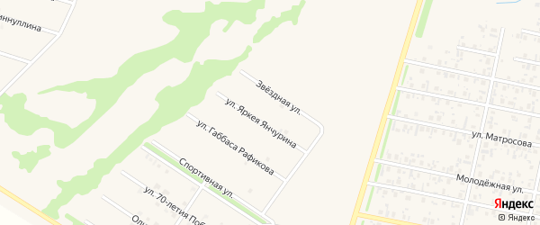 Звездная улица на карте села Верхнеяркеево с номерами домов