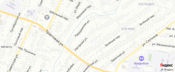 Нагорная улица на карте Нефтекамска с номерами домов
