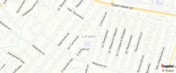 2-я улица на карте СНТ Нефтяника с номерами домов