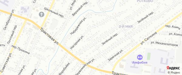 Солнечный переулок на карте Нефтекамска с номерами домов