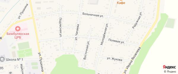 Полевая улица на карте села Бижбуляка с номерами домов