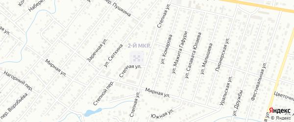 Степная улица на карте Нефтекамска с номерами домов