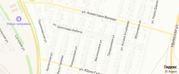 Улица Назара Наджми на карте Нефтекамска с номерами домов