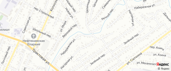 Набережная улица на карте Нефтекамска с номерами домов