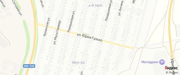 Васильковая улица на карте Нефтекамска с номерами домов