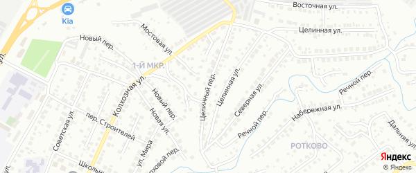 Целинный переулок на карте Нефтекамска с номерами домов