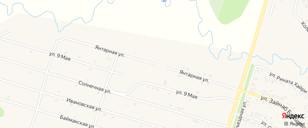 Янтарная улица на карте села Верхнеяркеево с номерами домов