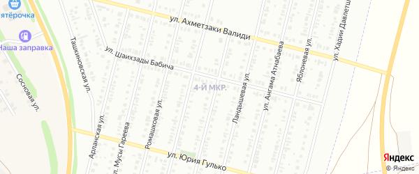 4-я улица на карте СНТ Восхода НГДУ с номерами домов