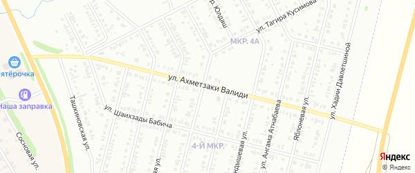 Улица Ахметзаки Валиди на карте Нефтекамска с номерами домов