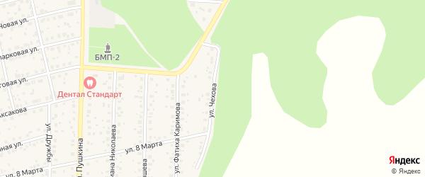 Улица Чехова на карте села Бижбуляка с номерами домов