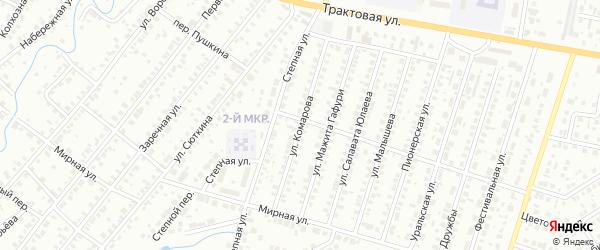 Улица Комарова на карте Нефтекамска с номерами домов